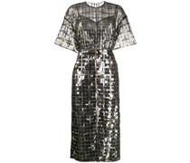 Semi-transparentes Kleid mit Pailletten