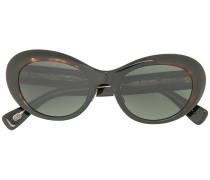 rounded cat eye frame sunglasses