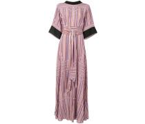 silk tie waist long dress