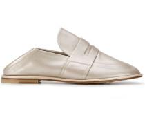 Flache Metallic-Loafer