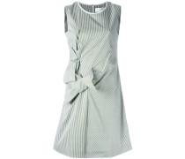 Gestreiftes Kleid mit Knotendetails