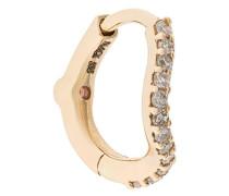 14kt 'Wave' Gelbgoldcreole mit Diamanten