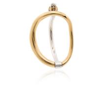 'Turtle' Ohrringe aus Goldvermeil und Silber