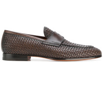 woven penny loafers