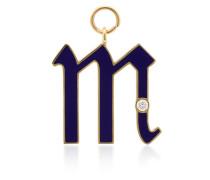 Diamond Point M Initial charm