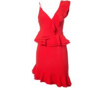 Asymmetrisches Kleid mit gerüschten Details
