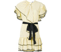 ruffled lace trim dress