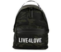 'Live 4 Love' Camouflage-Rucksack