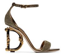 '105' Metallic-Sandalen mit Logo-Absatz