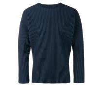 Plissierter Pullover