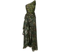 Seidenkleid mit Camouflage-Print