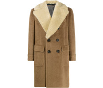 Mantel mit Shearling-Kragen