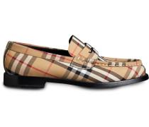 Loafer mit Vintage-Check