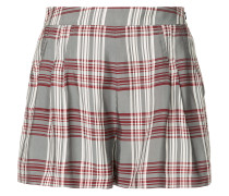 plaid high-waisted shorts
