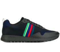 Gestreifte Sneakers mit Logo