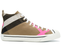 "High-Top-Sneakers mit ""House""-Karomuster"