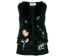floral embroidered gilet