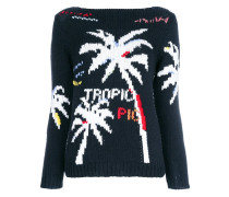 knitted palm tree jumper
