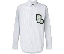Gestreiftes Hemd mit 'Plus'-Patch