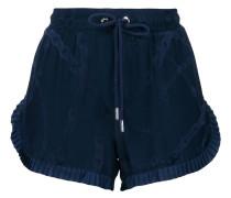 Gemusterte Shorts mit Plisseeborten