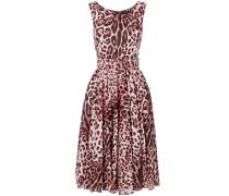 leopard print belted dress