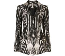 Blazer mit Zebra-Print