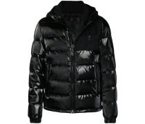 vinyl padded jacket