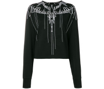wings embroidered sweatshirt