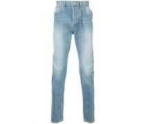straight leg jeans with tassel detail