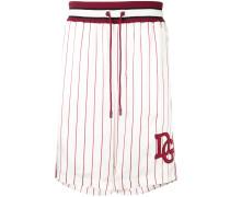 Seiden-Shorts mit Streifen