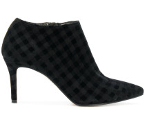 checked ankle boots