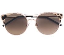 Runde Sonnenbrille mit Leoparden-Print