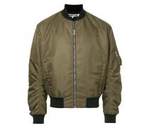 gathered sleeves bomber jacket