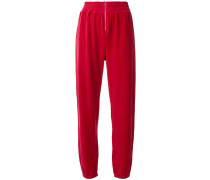 Swarovski velour zip track pants