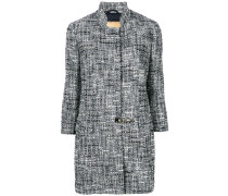 Tweed-Mantel mit Drehverschluss