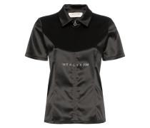 Satin-Hemd mit Reißverschluss