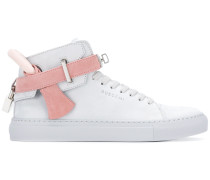 tie detail high-top trainers