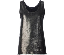 Tanktop im Metallic-Look