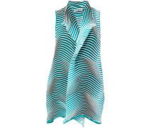 wave stripe long-line waistcoat jacket