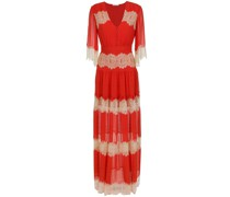 lace silk long dress