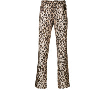 Faux-Fur-Hose mit Leopardenmuster