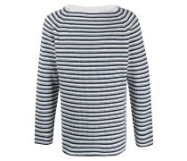 striped ribbed knit jumper