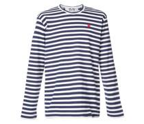 Gestreiftes T-Shirt mit Herz-Logo