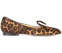 'Andrea' Loafer mit Leopardenmuster