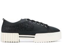 Flatform-Sneakers mit Glitter