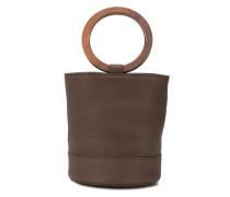 Handtasche mit Holz-Henkel