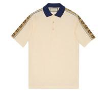 Poloshirt mit Monogrammmuster