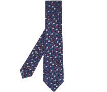 Jacquard-Krawatte mit Blumenmuster