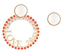 slogan hoop earrings