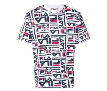 T-Shirt mit durchgehendem Logo-Print